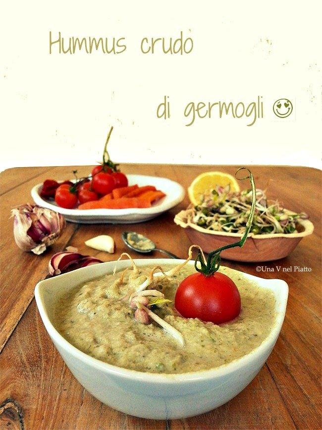 Hummus crudo di germogli mung - Ricetta e foto da Una V nel piatto